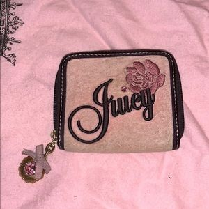 Juicy Couture Pink Velour Wallet